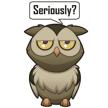 Annoyed Owl [Brown] by plaguewolfen