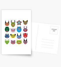 Monster set Postcards