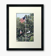 Naval Base Flags Framed Print