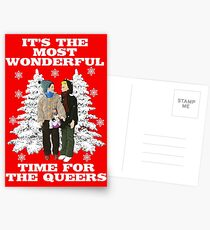 It's The Most Wonderful Time For the Queers! (Funny, Gay, Christmas Design)! Postcards