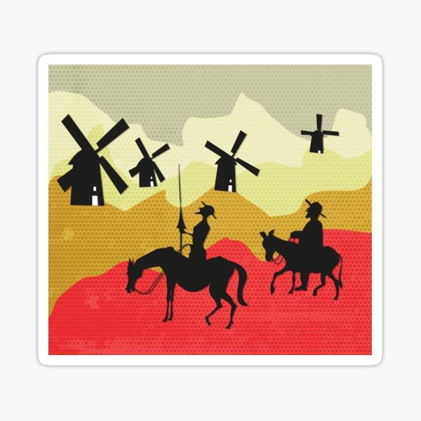 Tilting at windmills, Don Quixote Sticker