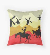 Tilting at windmills, Don Quixote Floor Pillow