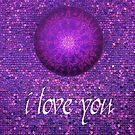 I Love You purple by danita clark