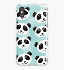 Cute panda face iPhone Case/Skin