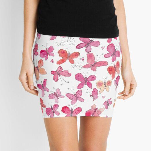 Pink butterflies Mini Skirt