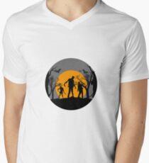 TrickORTreat Halloween Zombie  Men's V-Neck T-Shirt