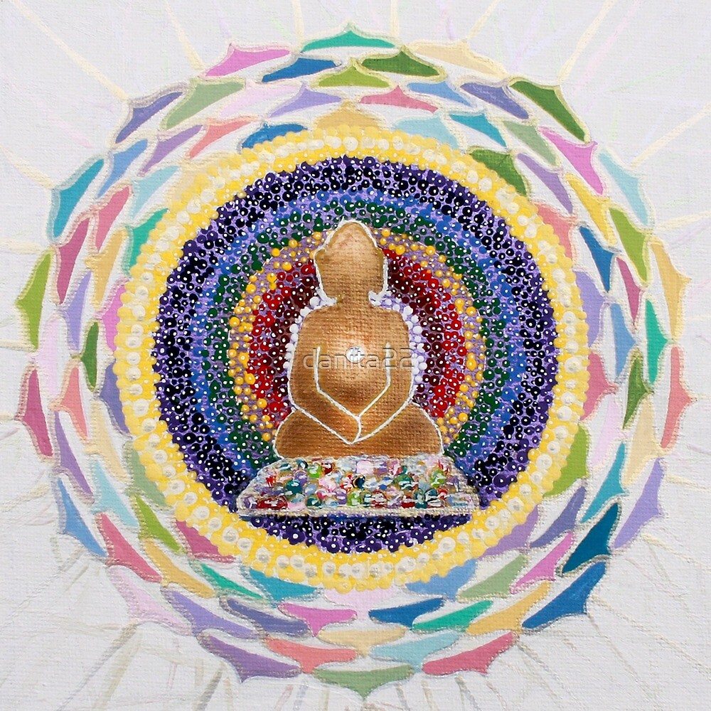 Buddha : Crown Chakra  by danita clark