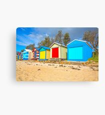 Beach Huts... Canvas Print