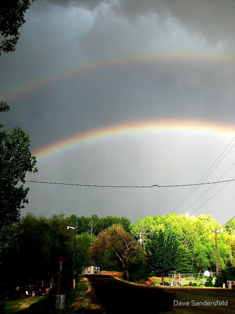 Dayville Oregon Double Rainbows by Dave Sandersfeld