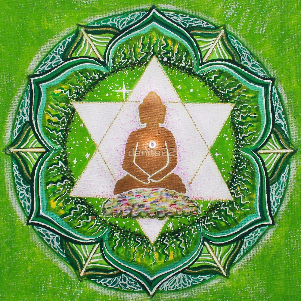 Buddha : Heart Chakra  by danita clark