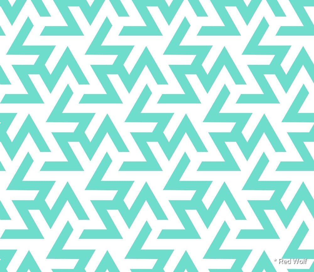 Geometric Pattern: Triskelion: Blue by * Red Wolf