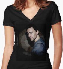 Hiddleston in Spotlight Women's Fitted V-Neck T-Shirt