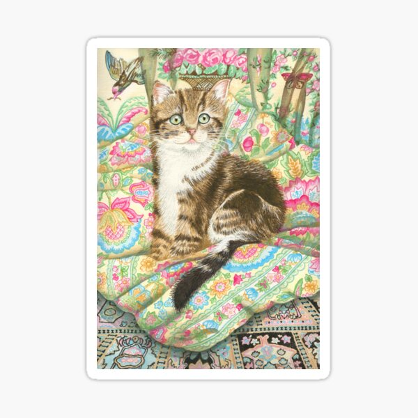 Cat with Cushions Sticker