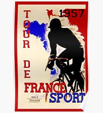 TOUR DE FRANCE: Vintage Bicycle Racing Print Poster
