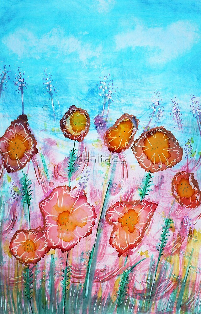 Floral Vibrant by danita clark