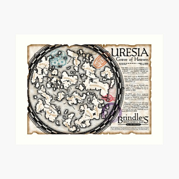 Uresia Grave of Heaven Art Print