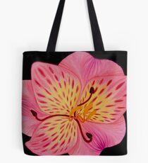 Lily art design, pink lily, flower art, tiger lily, pink floral print Tote Bag