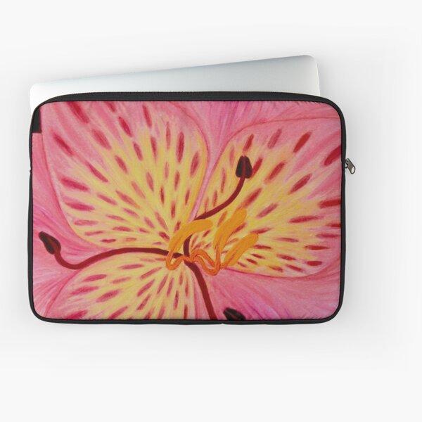 Lily art design, pink lily, flower art, tiger lily, pink floral print Laptop Sleeve