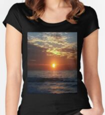 Orange sunset T-shirt Women's Fitted Scoop T-Shirt