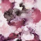 Organic Abstract in shades of plum by micklyn