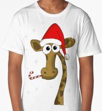 Christmas giraffe Long T-Shirt