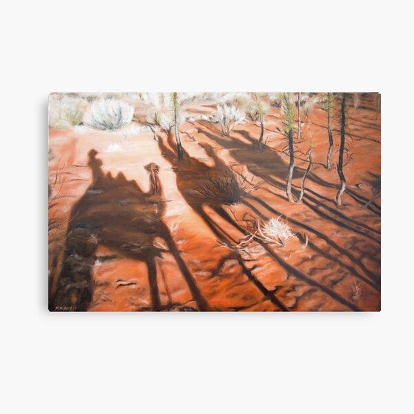 Uluru Camel String Metal Print