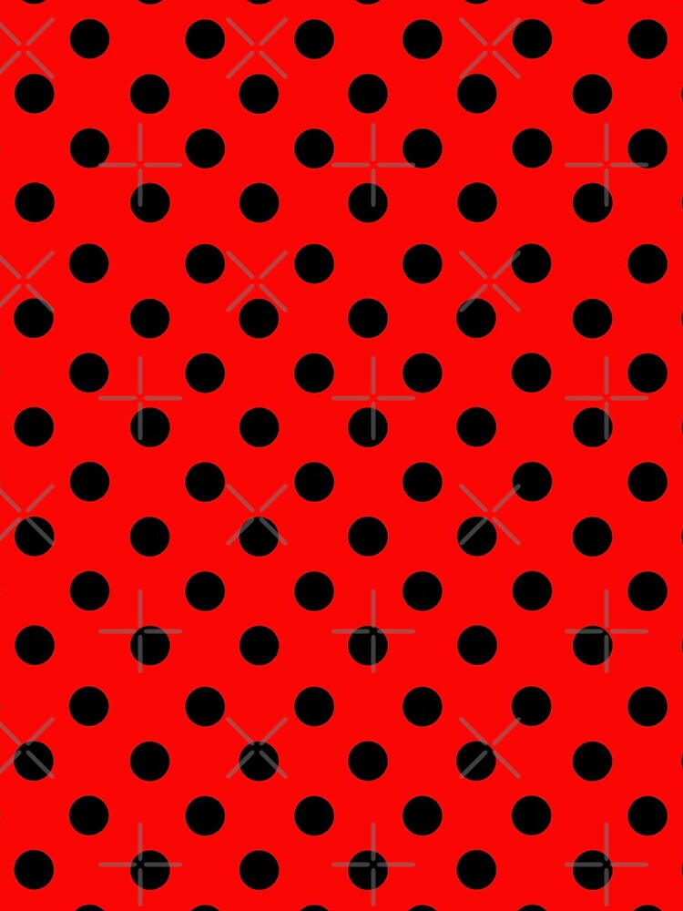 Red and Black polka dots | Ladybug Pattern | Halloween Outfit by koovox