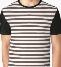 White and Brown | Stripes | Halloween Outfit Graphic T-Shirt