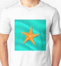 Plenty of Cushion Starfish on a  Ocean Floor. Caribbean Starfish on Azure  Background T-Shirt