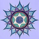 Mandala : Blooming Star by danita clark