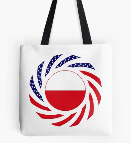 Polish American Multinational Patriot Flag Series Tote Bag