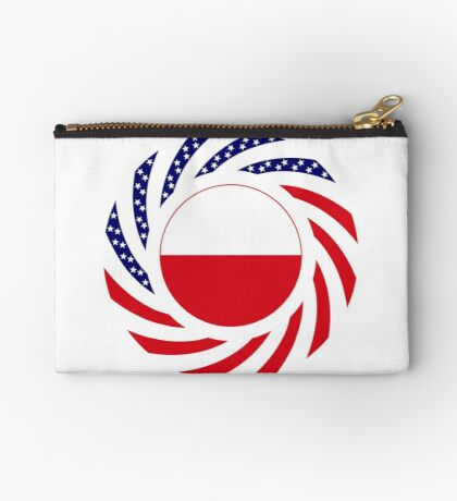 Polish American Multinational Patriot Flag Series Zipper Pouch