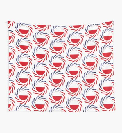 Polish American Multinational Patriot Flag Series Wall Tapestry