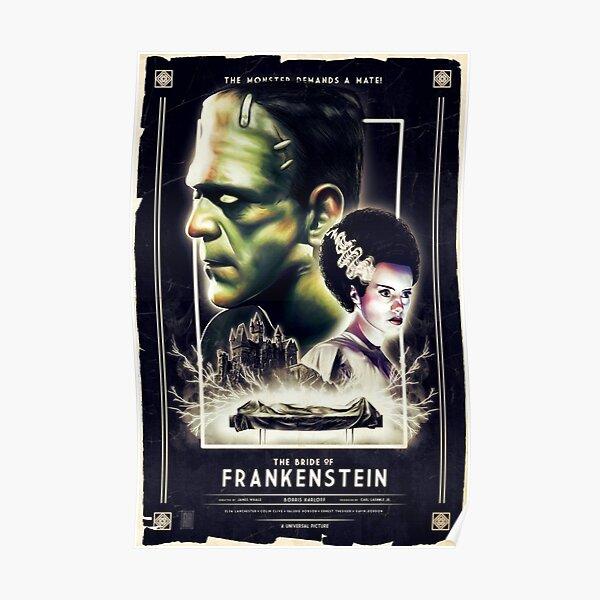 Frankie Finds Love! Frankenstein Boris Karloff Poster