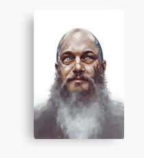 Ragnar Lothbrok Watercolour Canvas Print