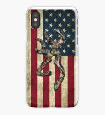 Browning Deer Camo American Flag iPhone Case/Skin
