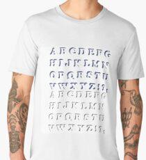 Alphabet Isolated on White Background. Set of  Letters. Halftone Alphabet Men's Premium T-Shirt