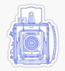 Vintage Photography - Graflex - Blue Sticker