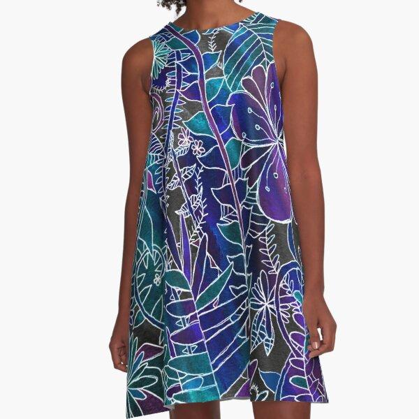 GALAXY JUNGLE A-Line Dress
