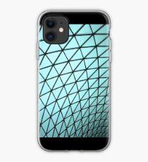 Architectural curve line structure cadet blue iPhone Case