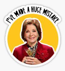 I've made a huge mistake - Lucile Sticker
