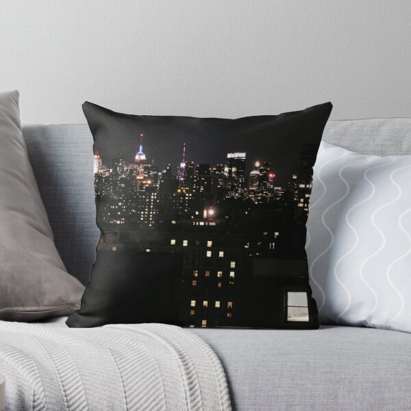 New York City skyline - Windows on the City Throw Pillow