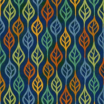 Autumn leaves pattern II by CatyArte