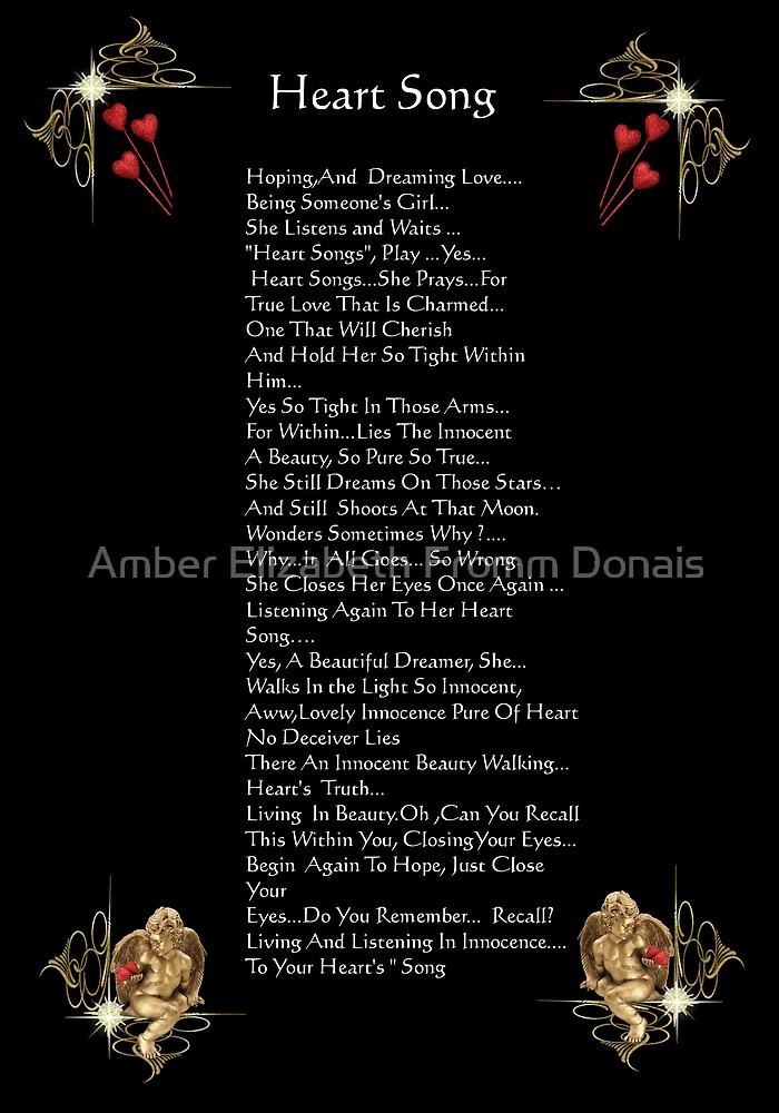 Heart Song 1 by Amber Elizabeth Fromm Donais