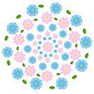 Floral background in pastels by ikshvaku