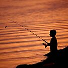 """The Fishing Boy"" by Jaime Hernandez"