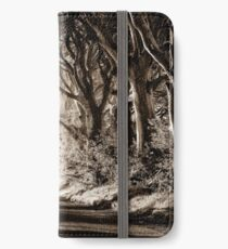 Moody Morning at the Dark Hedges iPhone Wallet