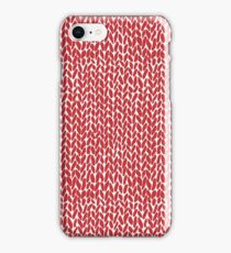 Hand Knit Red iPhone Case/Skin