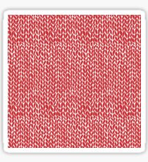 Hand Knit Red Sticker