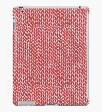 Hand Knit Red iPad Case/Skin